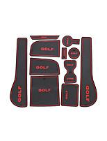 VW Golf 7 / slot mat pad / copo pad / apoio de braço / armazenamento pad / carro