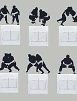 AYA™ Set of 6 DIY Creative Sumo Switch Stickers Wall Decor