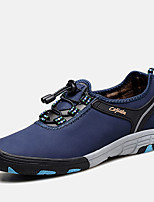 Men's Sneakers Fall / Winter Comfort / Round Toe Leather Outdoor Flat Heel Lace-up Blue / Brown / Gray / Khaki Hiking