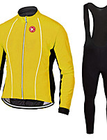 KEIYUEM®Spring/Summer/Autumn Long Sleeve Cycling Jersey+long Bib Tights Ropa Ciclismo Cycling Clothing Suits #L65