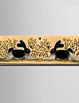 Moderno/Contemporáneo Animales Reloj de pared,Rectangular Lienzo 24 x 70cm(9inchx28inch)x1pcs/ 30 x 90cm(12inchx35inch)x1pcs Interior