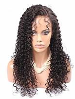 естественный цвет Kinky кудрявый полные парики шнурка необработанный бразильские виргинские человеческих волос 8