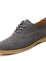 Men's Oxfords Spring / Summer / Fall / Winter Comfort Suede Athletic / Casual Flat Heel Black / Blue / Gray Sneaker