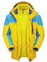 Hiking Softshell Jacket Men's Waterproof / Breathable / Rain-Proof / Fleece Lining / Comfortable / Thermal / WarmSpring / Fall/Autumn /