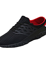 Men's Shoes Tulle Casual Sneakers Casual Running Flat Heel Black / White / Gray