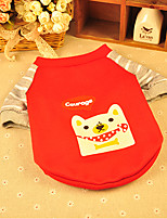 Dog Shirt / T-Shirt Red Spring/Fall Cartoon Fashion, Dog Clothes / Dog Clothing