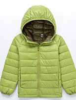 Girl's Casual/Daily Solid Down & Cotton Padded,Polyester Winter Black / Blue / Green / Red