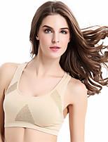 Double Shockproof Sports Bra Vest No Rims Running Yoga Underwear Breathable Breast Health Racerback Bras