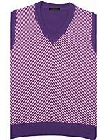 Men's Striped Casual Vest,Cotton Sleeveless Black / Purple