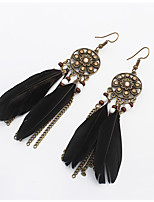 Earring Others Jewelry Women Tassels / Adorable Wedding / Party / Daily Alloy / Feather 1 pair Black / Red / Green