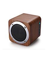 sans fil en bois haut-parleur de voiture Bluetooth, mini audio portable, carte peut être insérée