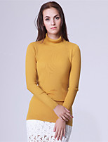 Mara Carol® Women's Round Neck Long Sleeve Sweater & Cardigan Blue / Yellow-6519502