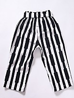 Girl's Casual/Daily Striped Pants,Cotton Winter / Fall Black