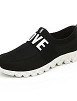 Dames Sneakers Lente / Zomer / Herfst Dichte neus / Platte schoenen Synthetisch Informeel Lage hak Combinatie Zwart / Roze / Grijs