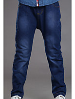 Boy's Casual/Daily Solid PantsCotton All Seasons Blue