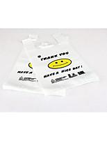 Smiley Vest Bag Supermarket Shopping Bag Plastic Bag 100/Bag