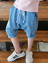 Boy's Casual/Daily Solid Pants,Cotton Summer Blue