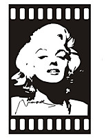 Fashion The Marilyn Monroe Pattern PVC Bathroom or Bedroom or Glass Wall Sticker Home Decor