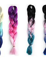 Cosplay Perücke Farbe chemische Fasergeflechts afrikanische schwarze Perücke drei Farbverlauf 22-Zoll-1pcs