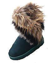 Women's Boots Fall / Winter Snow Boots Leatherette Outdoor / Casual Flat Heel Others Black / Blue / Brown Snow Boots