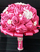 Wedding Flowers Round Roses Bouquets Wedding Satin 7.09
