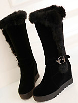 Women's Boots Fall / Winter Fashion Boots PU Outdoor Platform Buckle Black Snow Boots