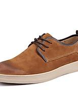 Men's Sneakers Spring / Fall Comfort Tulle Casual Flat Heel  Blue / Brown / Gray Running