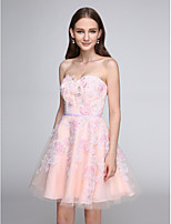 TS Couture® Cocktail Party Dress - Lace-up A-line Sweetheart Short / Mini Tulle with Appliques