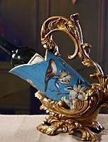 Creative European Retro Palace Painted Wine Rack Home Arts Gifts