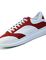Unisex Sneakers Spring / Fall Comfort PU Casual Flat Heel Red / Black and Red / Black and White Walking