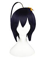 Perruques de Cosplay La Petite Sirène Tessaiga Noir / Violet Court / Droite Anime Perruques de Cosplay 35 CM Fibre résistante à la chaleur