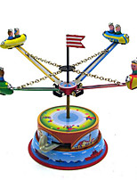 Novelty Toy  Puzzle Toy  Wind-up Toy Novelty Toy  Merry-go-round Space Ship Metal Blue For Kids