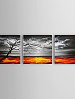 Ready To Hang Hand Painted Landscape Oil Painting Modern Abstract Canvas with Stretched Framed