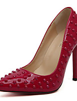 Women's Shoes Leatherette Spring Heels / Pointed Toe Heels Party & Evening Stiletto Heel Rivet Black / Red