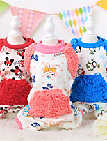 Dog Sweater Red / Blue / Pink Winter / Spring/Fall Floral / Botanical / Letter & Number Casual/Daily Dog Clothes