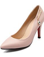 Черный / Розовый / Белый-Женский-Для офиса / На каждый день-Полиуретан-На шпильке-На каблуках / С острым носком-Обувь на каблуках