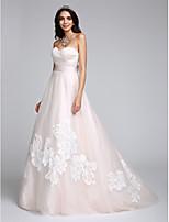 Lanting Bride® A-Linie Svatební šaty Dlouhá vlečka Srdce Tyl s Aplikace