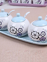 Ceramic Dressing Pots  Purple  Garden