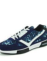 Hombre-Tacón Plano-Confort-Zapatillas de deporte-Casual-Tul-Negro / Azul / Rojo