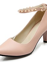 Women's Heels Spring / Summer / Platform / Round Toe Synthetic  / LeatheretteWedding / Office & Career /