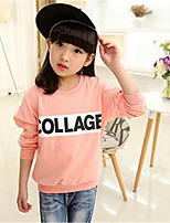 Girl's Casual/Daily Print Tee,Cotton Spring / Fall Pink / Yellow