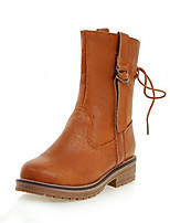 Women's Boots Fall / Winter Platform / Riding Boots / Fashion Boots / Bootie / Comfort / Round Toe / Flats Leatherette