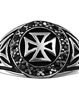Brand Men Ring 316L Stainless Steel Jewelry Men Rings The Crusaders Knights Temple Cross Ring For Man Teenage