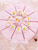 Cajas de regalos(Oro / Rosado,Papel de tarjeta) -Tema Jardín / Tema Asiático / Tema Floral / Tema Lazo / Tema Clásico / Tema Fantástico-