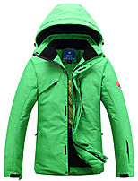 Men's Regular Parka Coat,Polyester Solid Long Sleeve