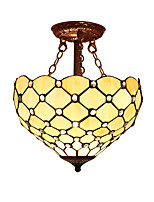 Tiffany Half pendant lamp with 2 Lights