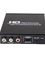 yunzuo schwarz hdmi zu av / FBAS / HDMI- / hdmi + av.hdmi Wandler