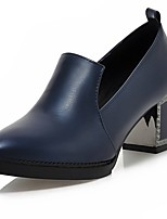 Women's Heels Summer / Pointed Toe PU Office & Career / Casual Chunky Heel Split Joint Black / Red / Royal Blue Others