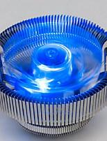 голубой версия свечение настольного компьютера центрального процессора вентилятор радиатора немой intel775 AMD / 1150/1155