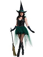 Cosplay Costumes Mermaid Tail / Fairytale Movie Cosplay Black Solid Dress / Gloves / Necklace / Hat Halloween / Christmas / New Year